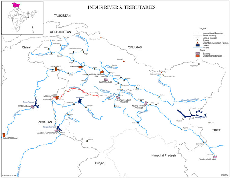 Indus River and Tributaries | Institute for Defence Studies ...