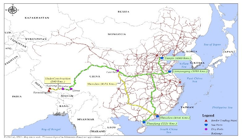 Figure-1-Nepal-China road distance map