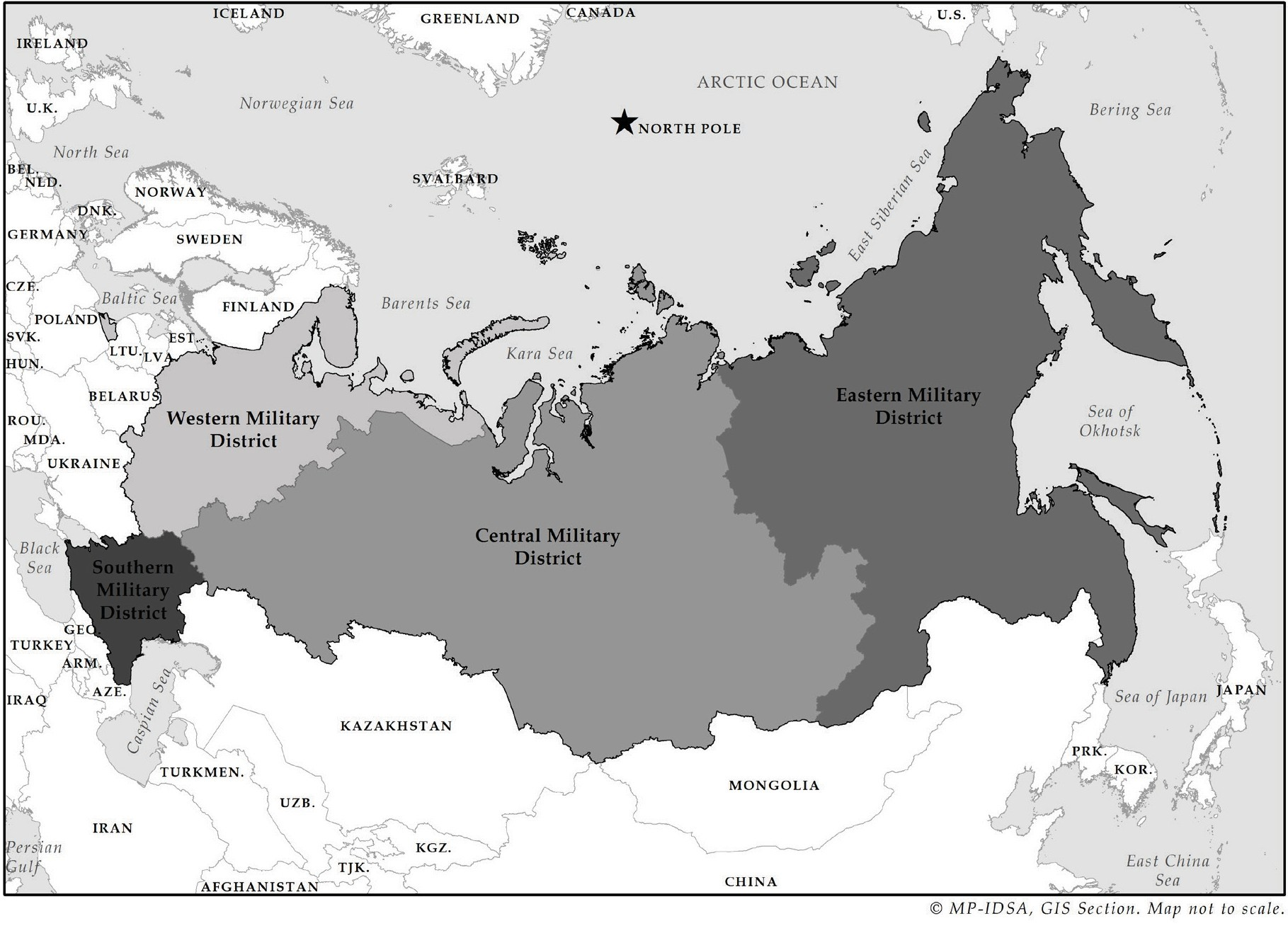 Russia's Military Districts